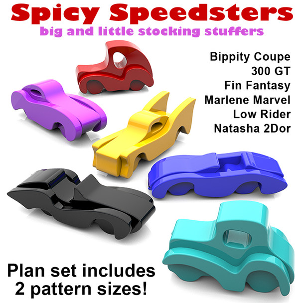 Spicy Speedsters Bigs & Littles (PDF Download) Wood Toy Plans
