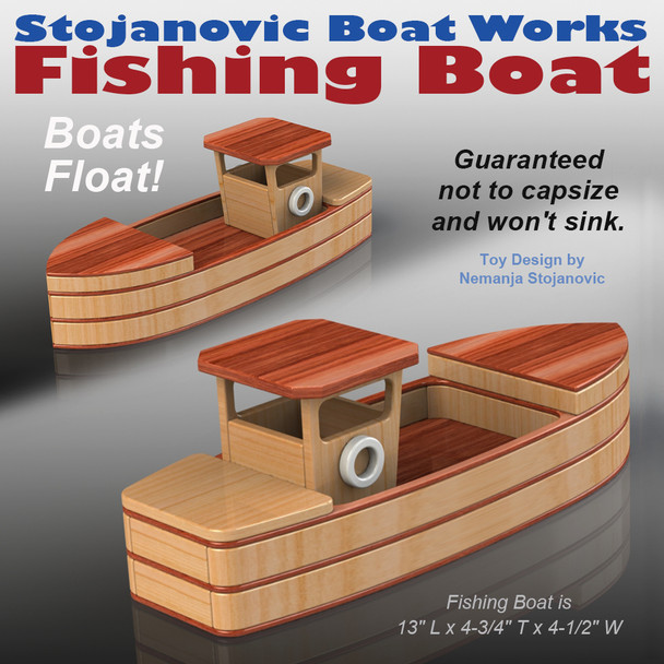 Stojanovic Boat Works Fishing Boat (PDF Download) Wood Toy Plans