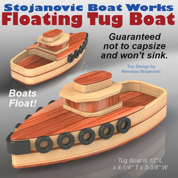 Stojanovic Boat Works Tug Boat (PDF Download) Wood Toy Plans