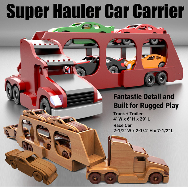Super Hauler Car Carrier (PDF Download) Wood Toy Plans