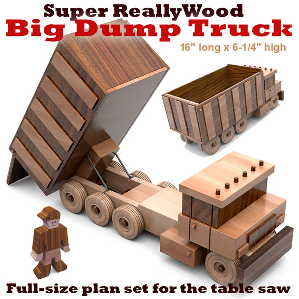 Super ReallyWood Big Dump Truck (PDF Download) Wood Toy Plans