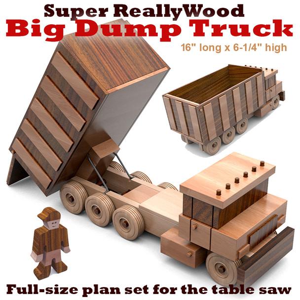 Super ReallyWood Big Dump Truck (PDF Download) Wood Toy Plans