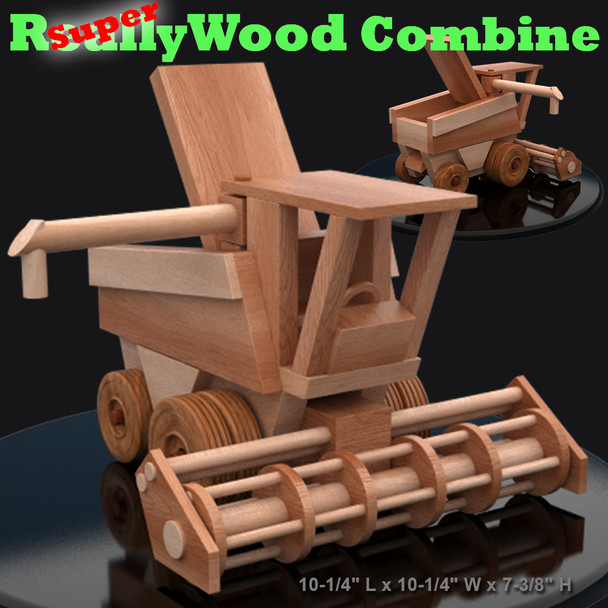 Super ReallyWood Combine (PDF Download) Wood Toy Plans