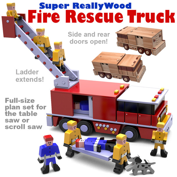 Super ReallyWood Rescue Fire Truck (PDF Download) Wood Toy Plans