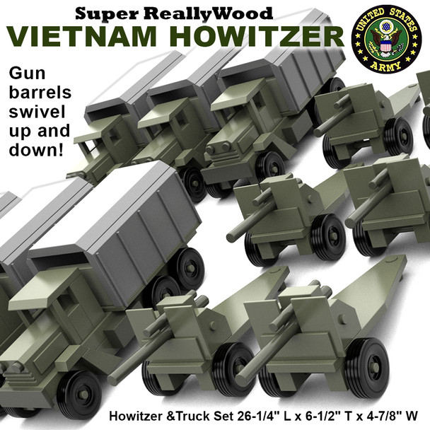 Super ReallyWood Vietnam Howitzer (PDF Download) Wood Toy Plans