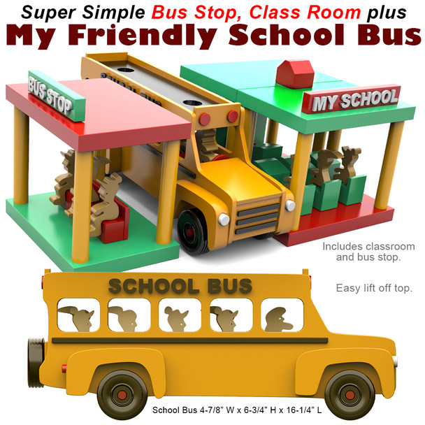 Super Simple My Friendly School Bus (PDF Download) Wood Toy Plans