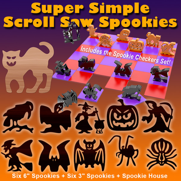 Super Simple Scroll Saw Spookies (PDF Download) Wood Toy Plans