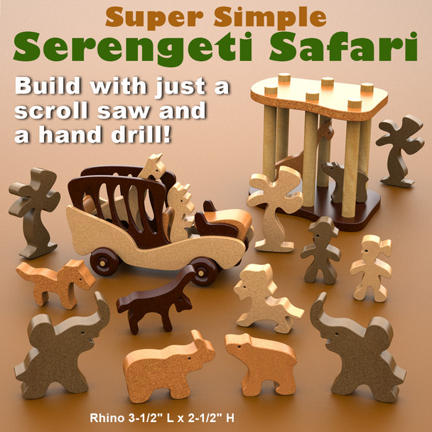 Super Simple Serengeti Safari (PDF Download) Wood Toy Plans