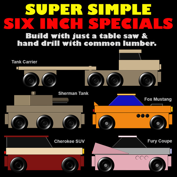 Super Simple Six Inch Specials (PDF Download) Wood Toy Plans
