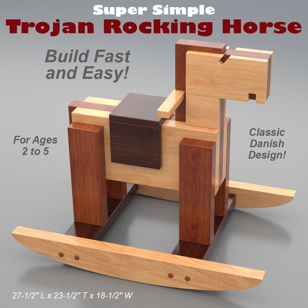 Super Simple Trojan Rocking Horse (PDF Download) Wood Toy Plans
