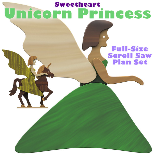 Sweetheart Unicorn Princess (PDF Download) Wood Toy Plans