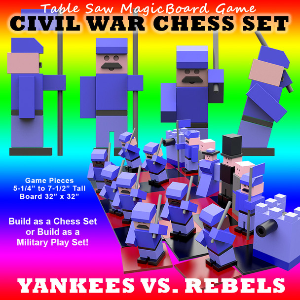 Table Saw Magic Civil War Play Set (PDF Download) Wood Toy Plans
