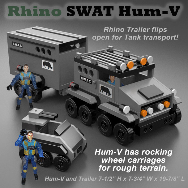 Table Saw Magic Rhino SWAT Hum-V (PDF Download) Wood Toy Plans