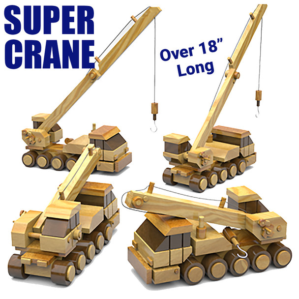Table Saw Magic Super Crane (PDF Download) Wood Toy Plans
