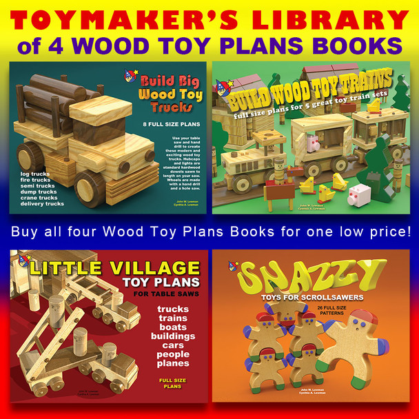 Toymaker's Library of 4 eBooks Volume 2 (4 PDF eBook Downloads) Wood Toy Plans