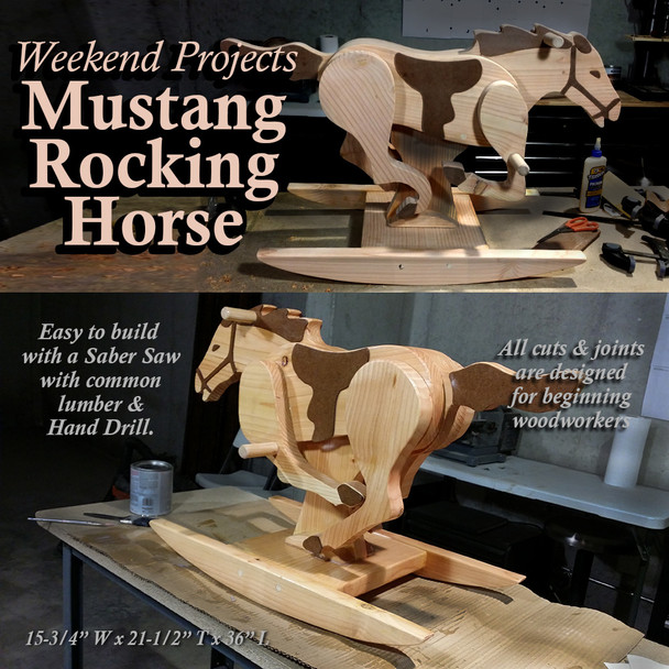 Weekend Projects Mustang Rocking Horse (PDF Download) Wood Toy Plans