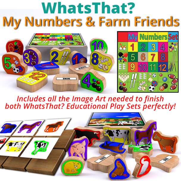 WhatsThat? Farm Friends + My Numbers (2 PDF Downloads) Wood Toy Plans