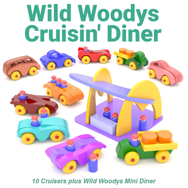 Wild Woodys Cruisin' Diner (PDF Download) Wood Toy Plans