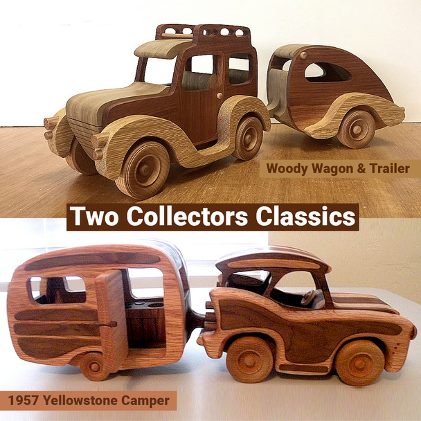 Woody Wagon & Trailer + 1957 Yellowstone Camper (2 PDF Downloads) Wood Toy Plans
