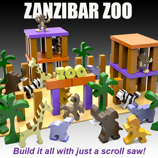 Zanzibar Zoo (PDF Download) Wood Toy Plans
