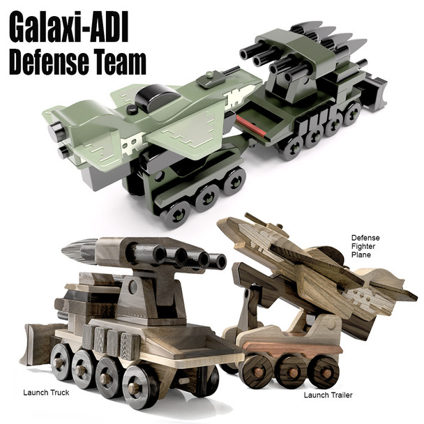 Galaxi-ADI Defense Team (3 PDF Downloads) Wood Toy Plans