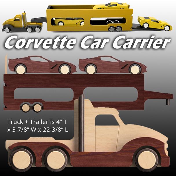 Easy Basics Corvette Carrier (3 PDF Downloads) Wood Toy Plans