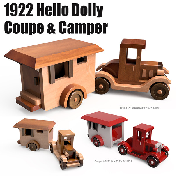 Quick N Easy 1922 Hello Dolly Coupe & Camper (2 PDF Downloads) Wood Toy Plans