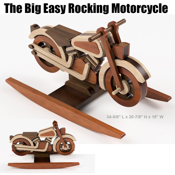 The Big Easy Rocking Motorcycle (PDF Download) Wood Toy Plans
