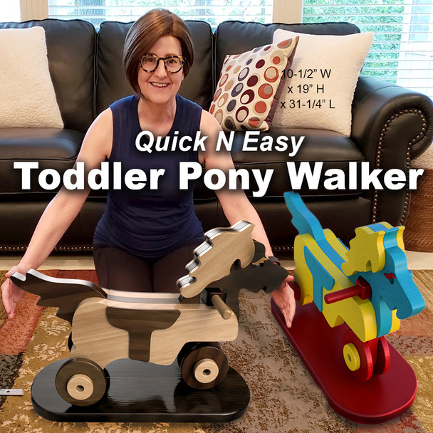 Quick N Easy Toddler Pony Walker (PDF Download) Wood Toy Plans