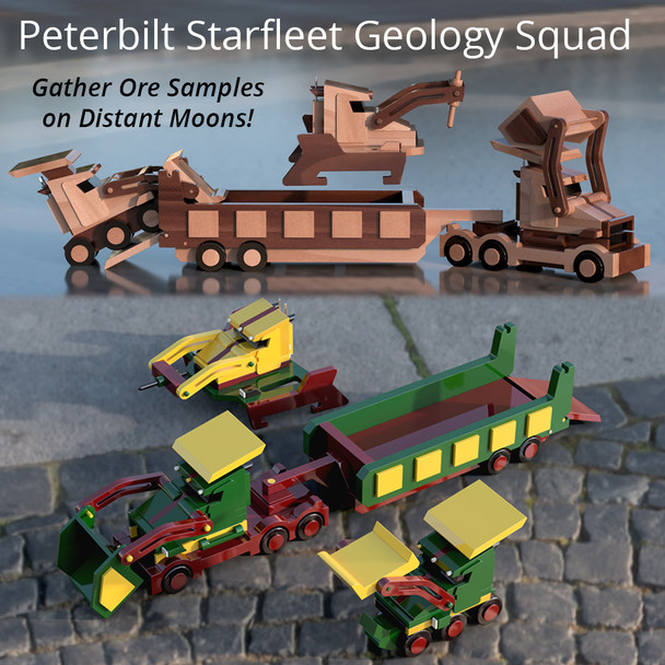 Starfleet Peterbilt Geology Squadron (4 PDF Downloads) Wood Toy Plans