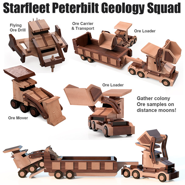 Starfleet Peterbilt Geology Squadron (4 PDF Downloads) Wood Toy Plans