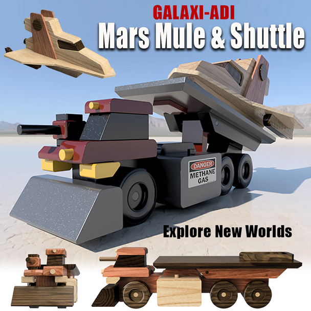 Galaxi-ADI Mars Mule and Shuttle (2 PDF Downloads) Wood Toy Plans