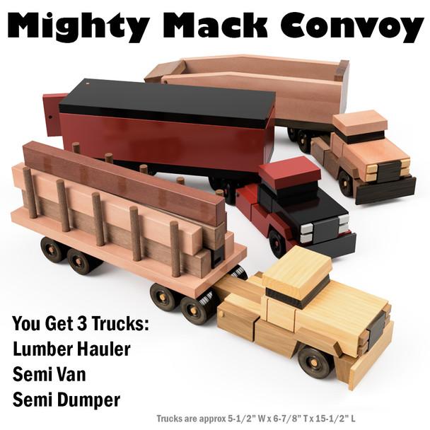 Mighty MACK Convoy Set of 3 Trucks (4 PDF Downloads)