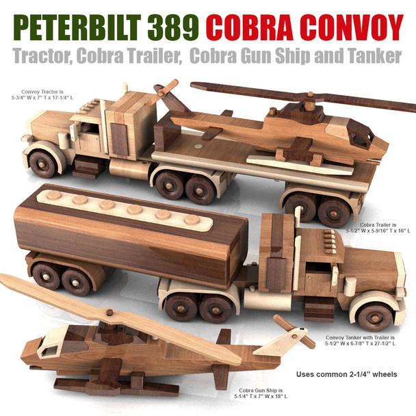Peterbilt 389 Cobra Convoy Wood Toy Plans