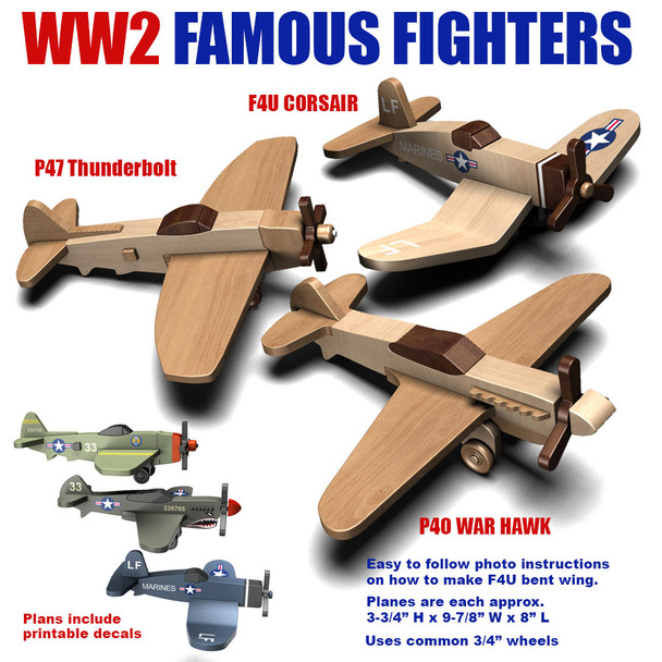 WW2 Famous Fighters Wood Toy Plans