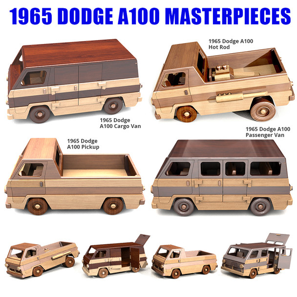 1965 Dodge A100 Masterpieces Wood Toy Plans (4 PDF Downloads)