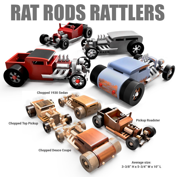 Rat Rods Rattlers (4 PDF Downloads) Wood Toy Plans