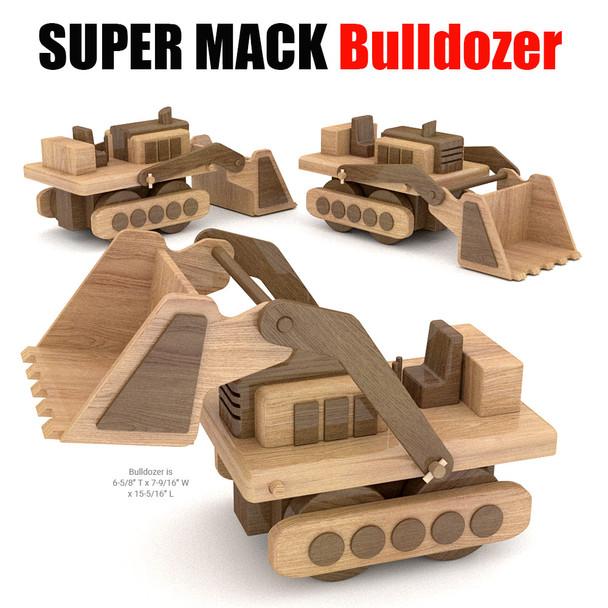Super MACK Bulldozer Wood Toy Plans (PDF Download)