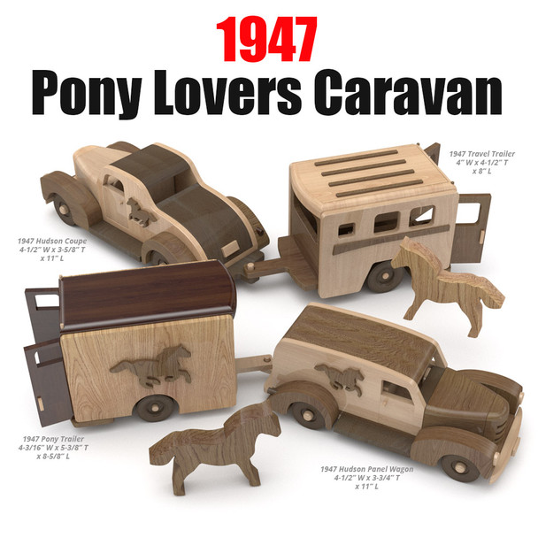 1947 Pony Lovers Caravan Wood Toy Plans