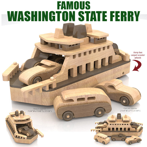 Famous Washington State Ferry Wood Toy Plans