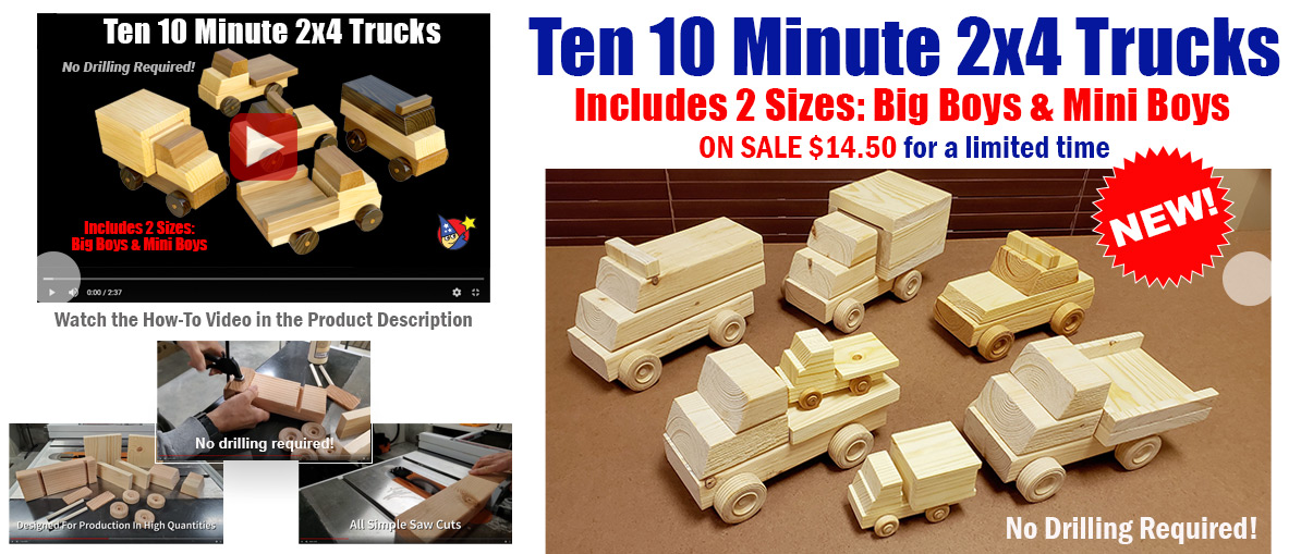 10 Ten Minute 2x4 Trucks