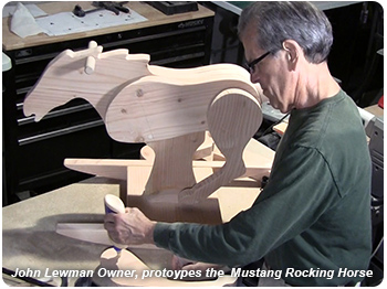 John Lewman builds the Mustang Rocking Horse