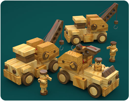 Build Big Wood Toy Trucks