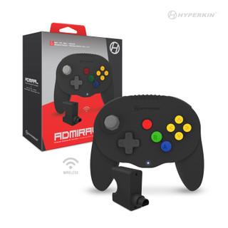 """Admiral"" Premium BT Controller For N64®/ Nintendo Switch®/ Nintendo Switch® Lite/ PC/ Mac®/ Android® (Black) - Hyperkin"