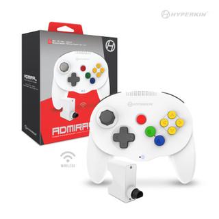 """Admiral"" Premium BT Controller For N64®/ Nintendo Switch®/ Nintendo Switch® Lite/ PC/ Mac®/ Android® (White) - Hyperkin"