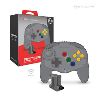 """""""Admiral"""" Premium BT Controller For N64®/ Nintendo Switch®/ Nintendo Switch® Lite/ PC/ Mac®/ Android® (Space Black) - Hyperkin"""
