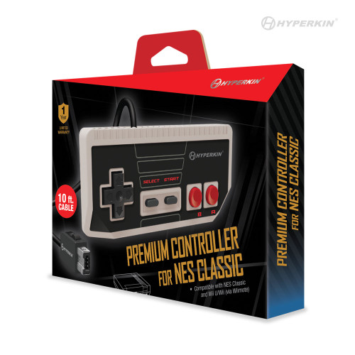 """Cadet"" Premium Controller for NES®  Classic Edition/ Wii U® / Wii®  - Hyperkin"