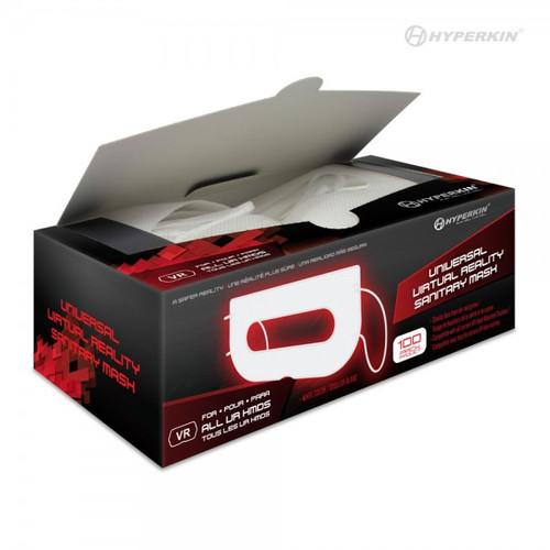 Universal VR Sanitary Mask V2.0 for HTC Vive/ PS VR/ Gear VR/ Oculus Rift/ Oculus Quest®/ Oculus Quest® 2 (White - 100-Pk) - Hyperkin