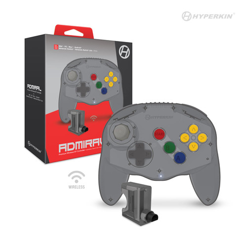 """Admiral"" Premium BT Controller For N64®/ Nintendo Switch®/ Nintendo Switch® Lite/ PC/ Mac®/ Android® (Space Black) - Hyperkin"