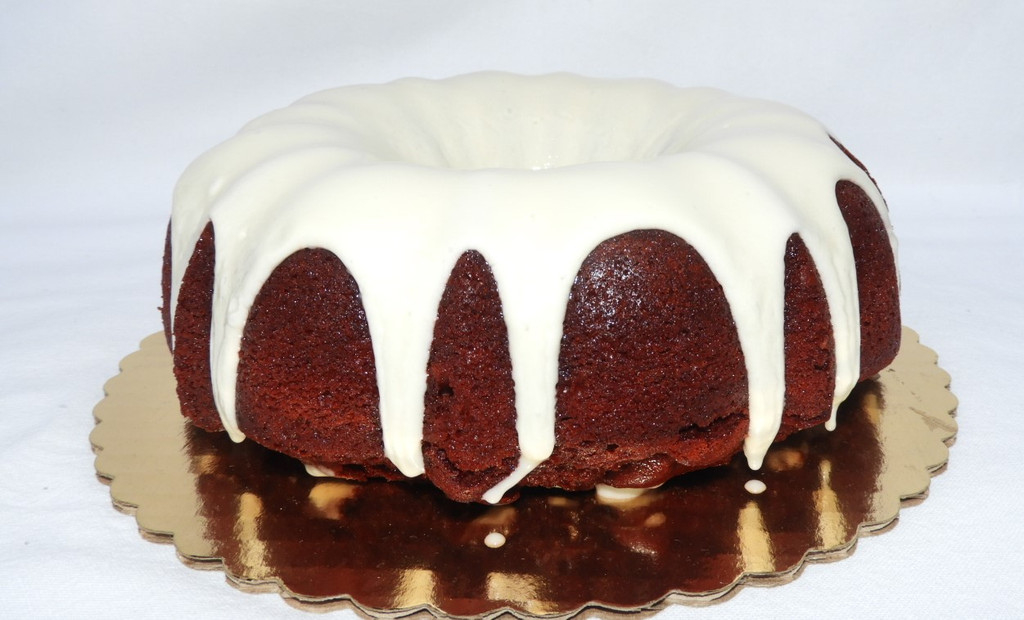 Delicious Red Velvet Cake with cream cheese frosting